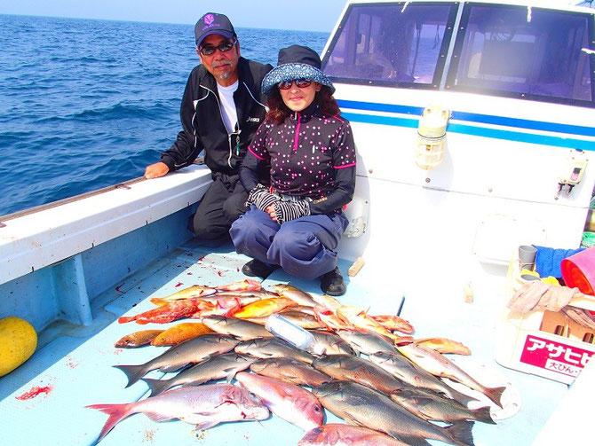 2015.6.12 本日はご夫婦2名様でのスルスル釣り、タイラバ釣行です。