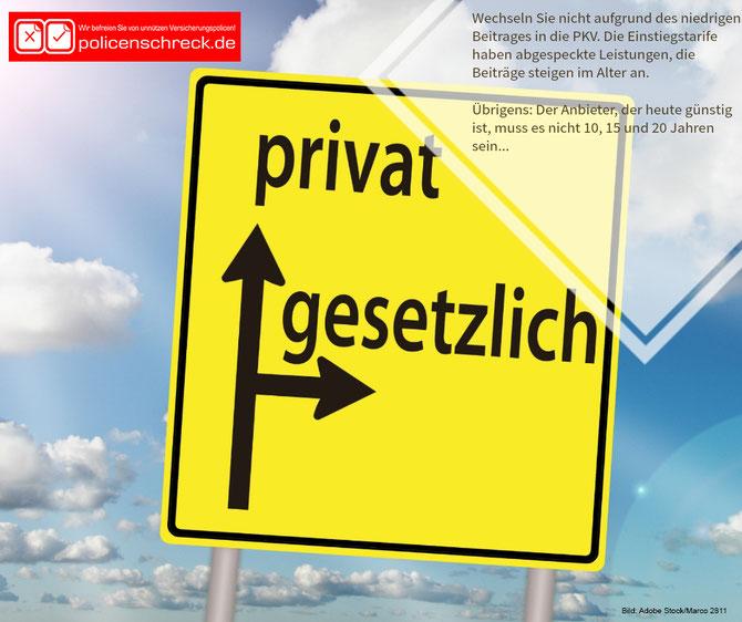 Nicht wegen der niedrigen Beiträge in die PKV wechseln - PKV - Beratung - Rüsselsheim