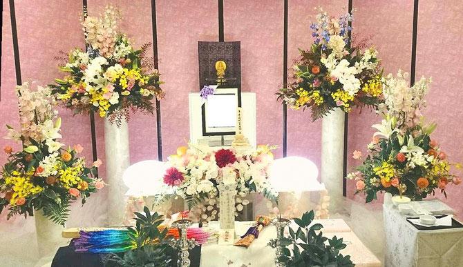洋風祭壇家族葬