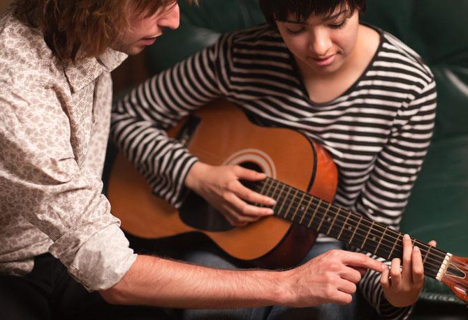 Gitarrenlehrer und Pädagogik