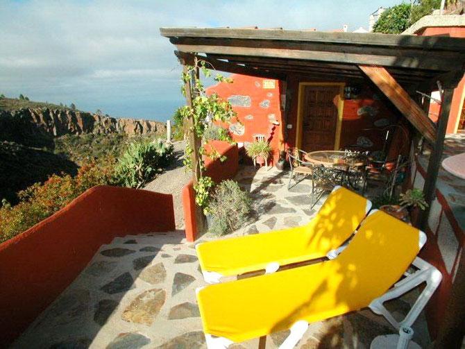 Kleines Ferienhaus auf einer hübschen Finca mit Pool in Guia de Isora auf teneriffa