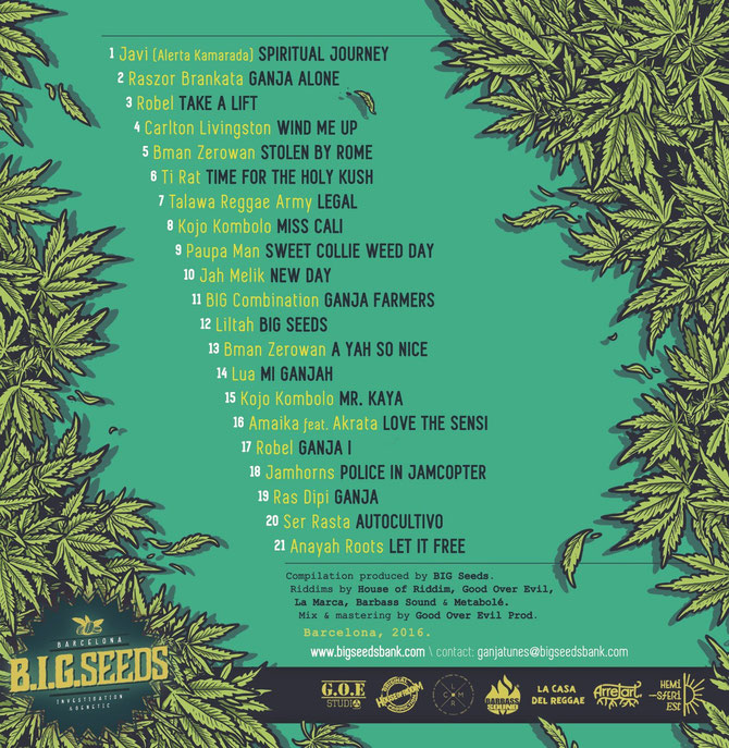 big ganja tunes artists, big seeds 2016