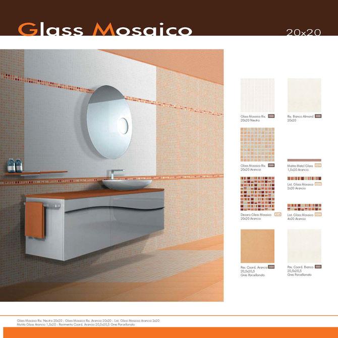 Glass Mosaico Arancio 20x20