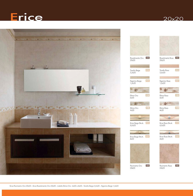 Erice 20x20 oro - rosa