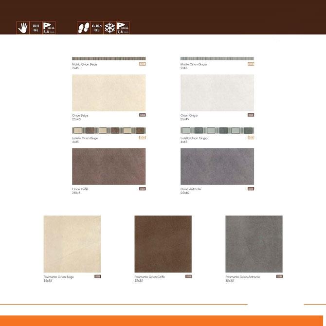 orion beige- grigio-caffè-antracite 25x45