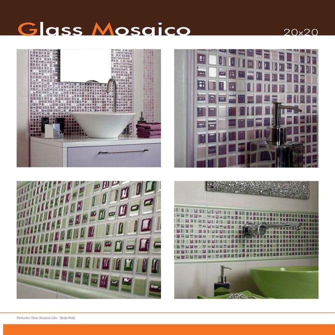 Mosaico Glass Lilla-Verde Mela