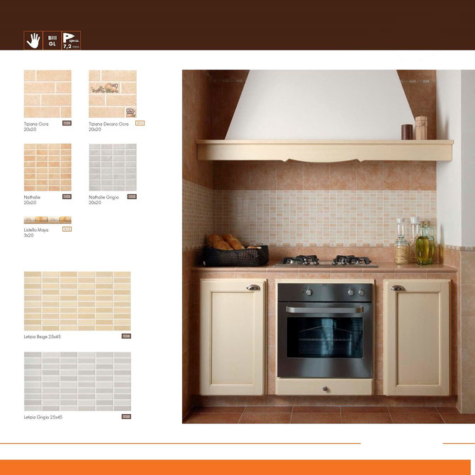 rivestimenti cucine 20x20 o 25x45