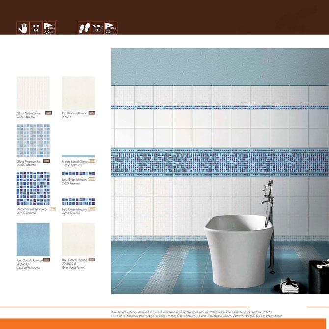 Glass Mosaico Azzurro 20x20