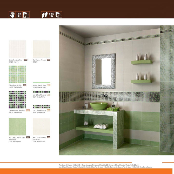 Mattonelle bagno casaeco pavimenti e rivestimenti in - Bagno verde mela ...
