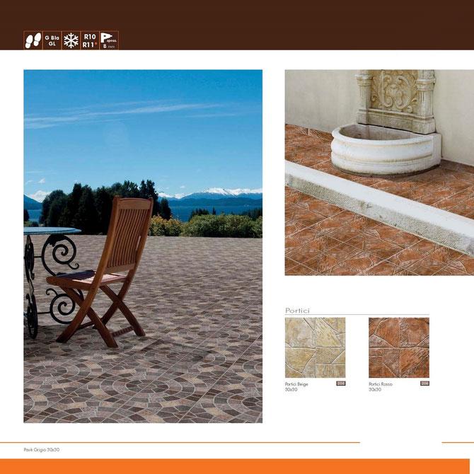 portici beige-rosso 30x30