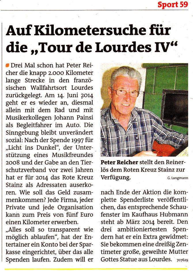 """Zeitungsbericht """"Woche"""" Okt.2013"""