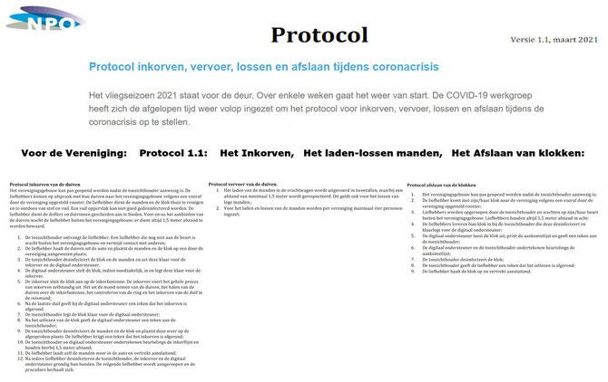 Info COVID-19 Protocol voor de Vereniging