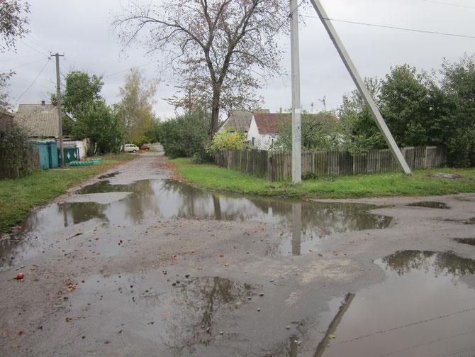 Перехрестя з вулицею Новою (справа)