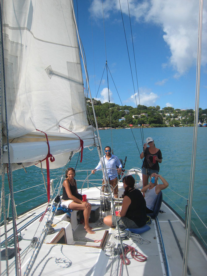 Sailing around Castries harbour