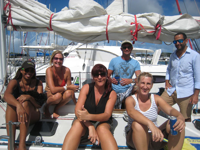 Crew of Papagayo in ARC Flotilla