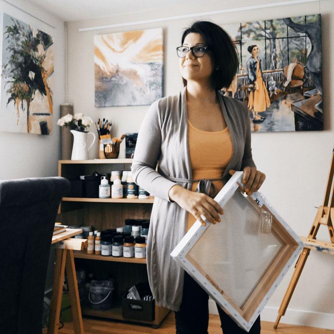 Rita Galambos painter illustrator graphic design hungary contemporary artist acrylpainting modernart künstlerin grafikerin Feldkirch Vorarlberg Galambos Rita workshop