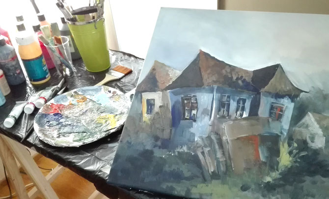 Galambos Rita ungarische Künstlerin Feldkirch Vorarlberg Landschaftmalerei Malerei painting hungarian artist