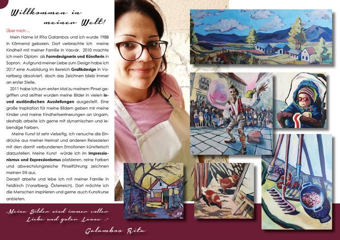 Galambos Rita, Talent, bildende Künstlerin, acrylmalerei, landschaftsmalerei, farbig Kunst modern art, ungarische designerin, contemporary art, acrylpainting, Grafikerin, Illustratorin, Designerin, Vorarlberg, Feldkirch