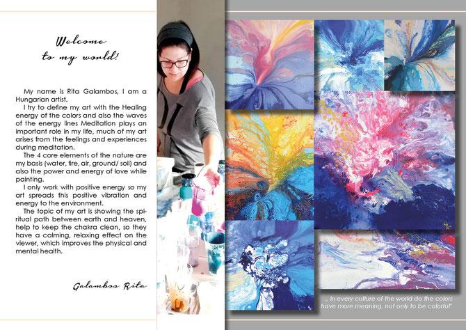 Galambos Rita hungarian artist Meditation Art fluid acrylic painting