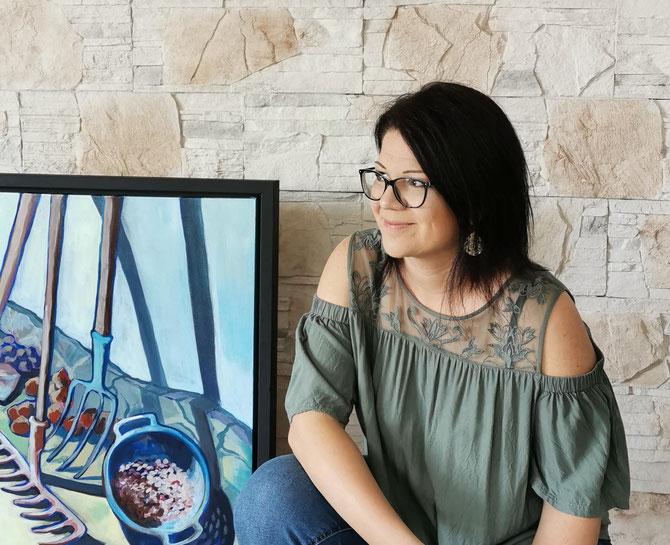 Rita Galambos freischaffende Künstlerin Malerin Designerin Painter Designer Artist