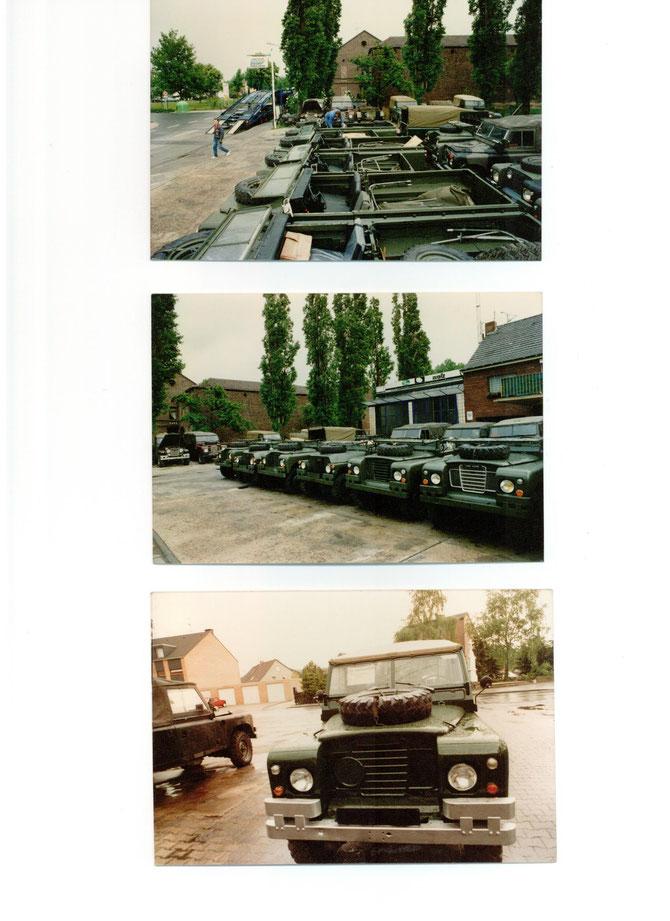 Lieferung von jeweils 8 abgeplanten  Fahrzeugen an unseren Kunden in Frankreich.