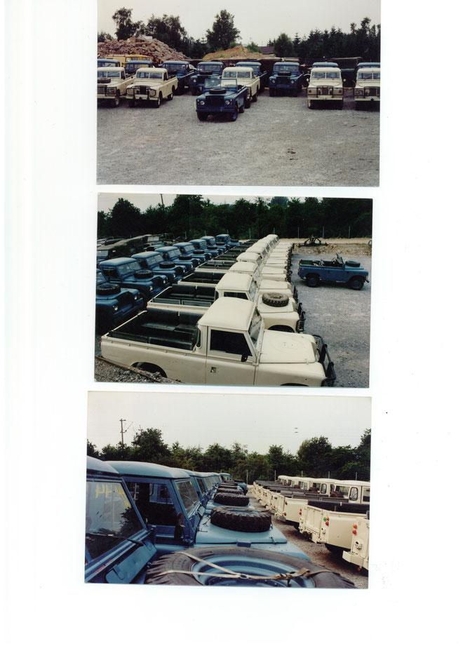 Lieferung von 25 Land Rover 109 mit Truck-Cap an eine Goldmine der Firma Klöckner in Tansania