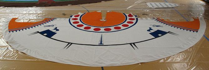 NONAM-Spieltipi - Bemalung: Plains Cree um 1900, nach Ted J. Brasser