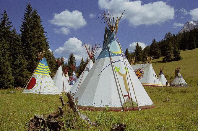 Tipi-Camp Reusch bei Gsteig, Berner Oberland