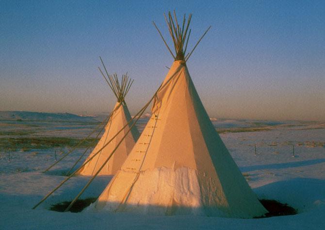 Foto: Angelika Harden-Normen, Tipi Village, Browning, Montana