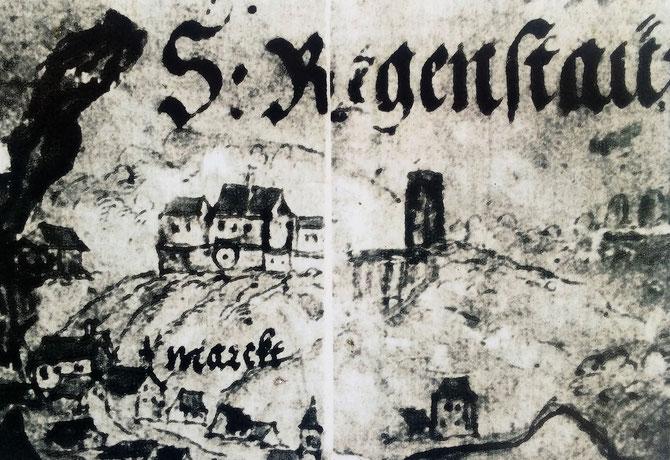 Schlossberg Regenstauf, ca. 15.Jh.