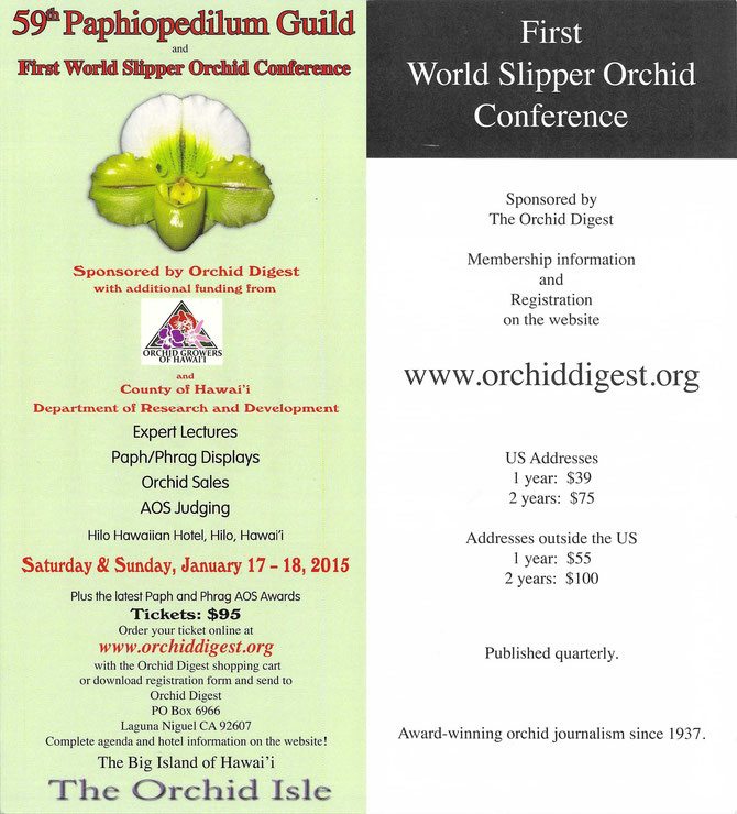 59th Paphiopedilum Guild Meeting