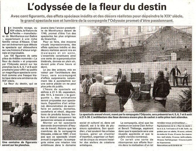 Vosges Matin 2 août 2012