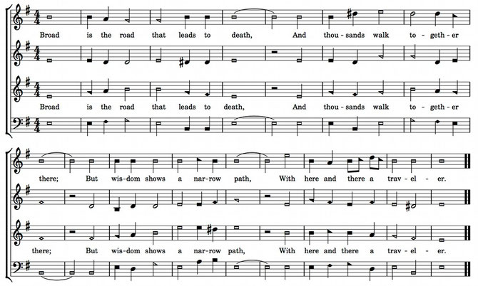 Sacred Harp notation – Wikipedia public domain