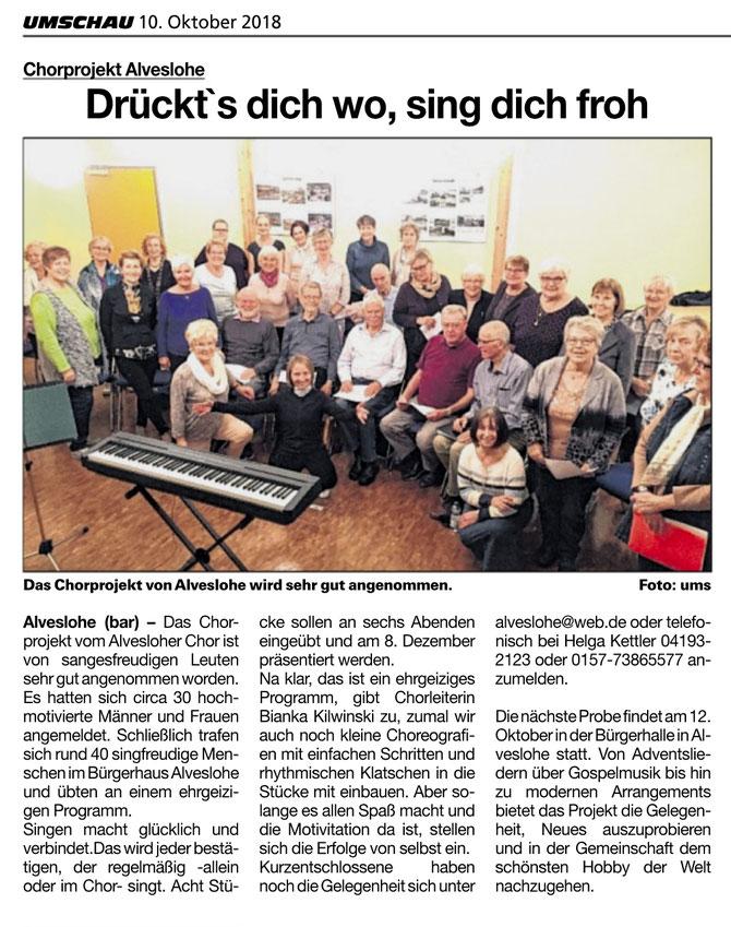 ProChorA: Projektchor in Alveslohe