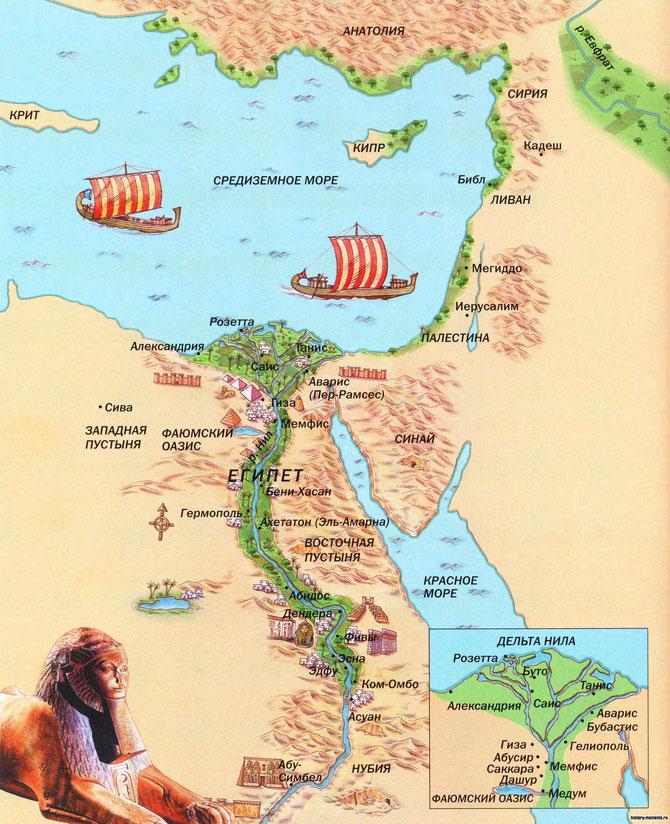Карта Древний Египет      15.10.2017