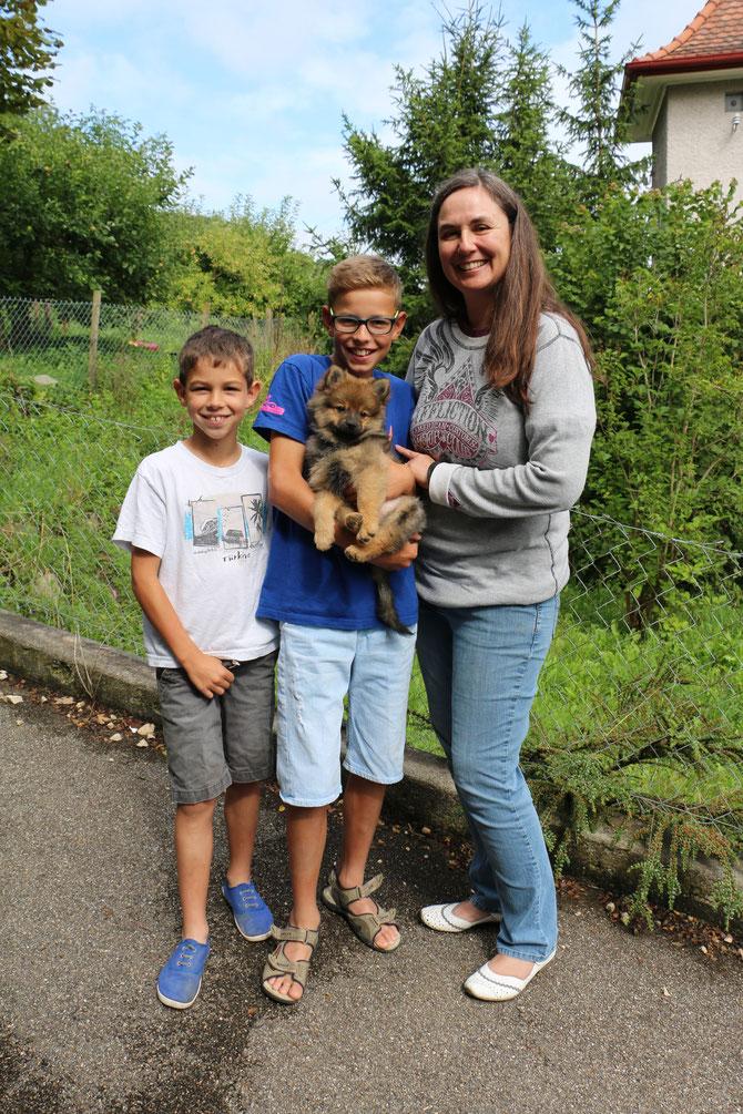 Asterix vom Pommerle lebt nun mit Annsophie und Familie im Aargau