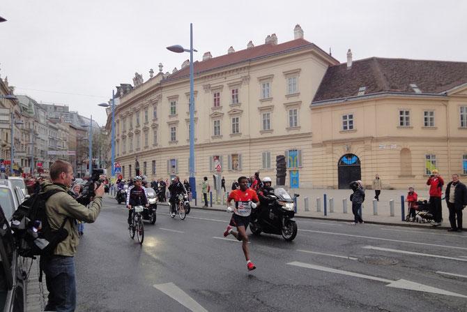 Haile Gebrselassie beim Wien-Marathon 2012