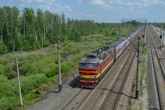 Typischer russischer Fernzug