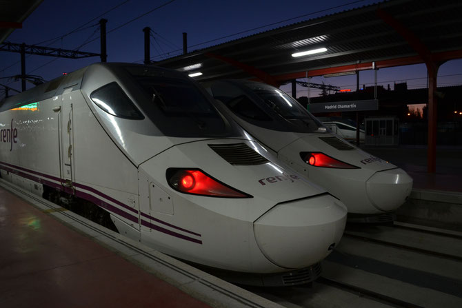 The Spanish bullet trains are called AVE.