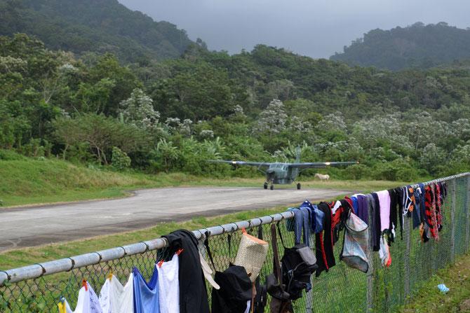 Vom Flughafen in Puerto Obaldia war im Dezember 2015 keine spontane Weiterreise möglich.