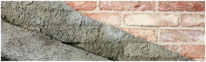 2-Lagen Putz und Patschok auf Ziegelmauer - nur ein Produkt!