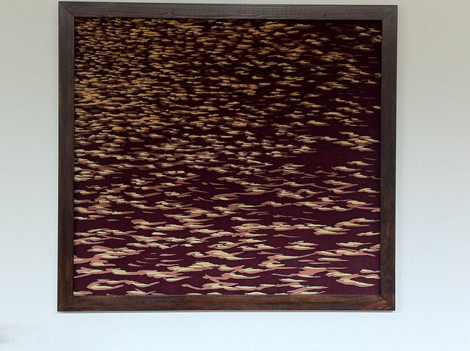 Batik sur soie sauvage - 90 x 90 cm