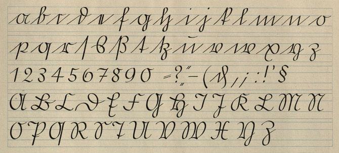 Schriftmuster - Offenbacher Schrift