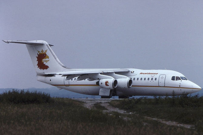 SE-DRA BAe146-200 E2115 Malmö Aviation
