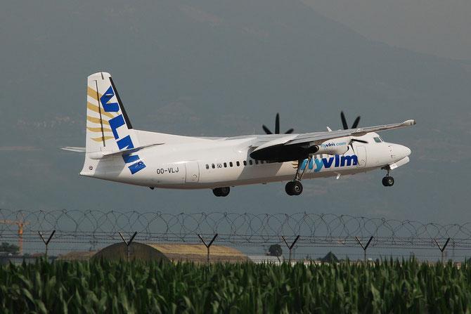 OO-VLJ Fokker 50 20105 VLM Airlines - Vlaamse Luchttransport Maatschappij @ Aeroporto di Verona © Piti Spotter Club Verona
