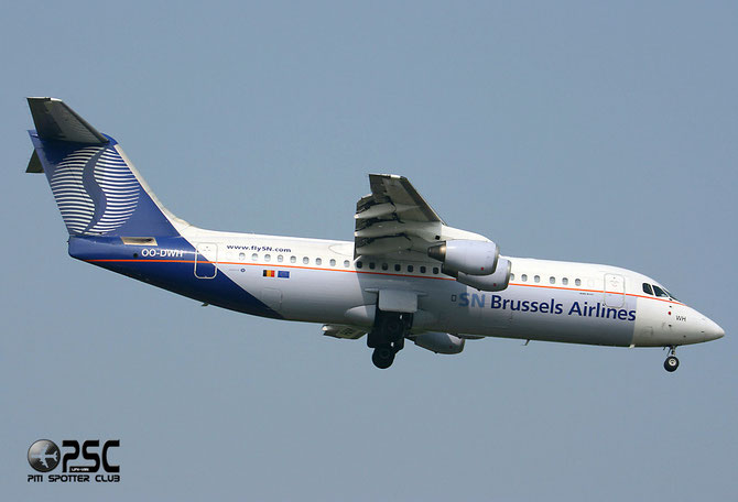 OO-DWH BAe146-RJ100 E3340 Brussels Airlines