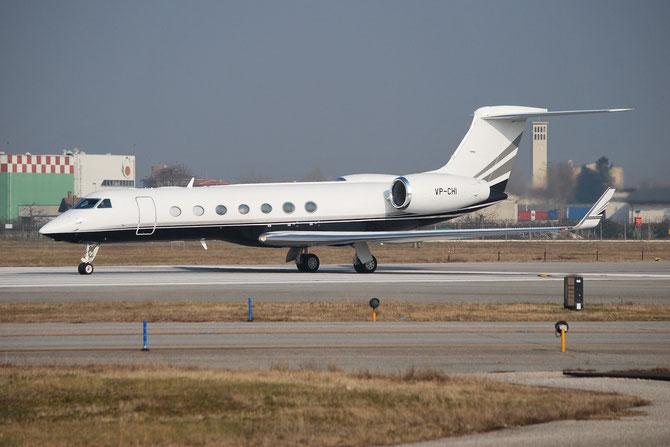 VP-CHI Gulfstream Aerospace GV-SP (G550) GLF5 5415 @ Aeroporto di Verona © Piti Spotter Club Verona
