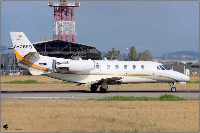 D-CSFD Ce560XL 560-5022 SFD Stuttgarter Flugdienst @ Aeroporto di Verona © Piti Spotter Club Verona