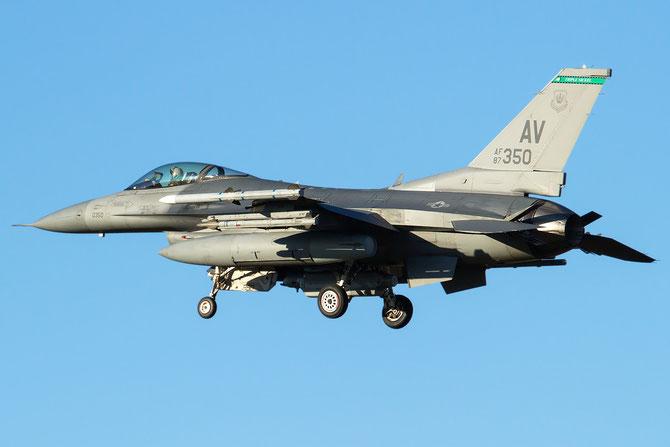 87-0350 AV F-16CM-40-CF 1C-1 555th FS Active