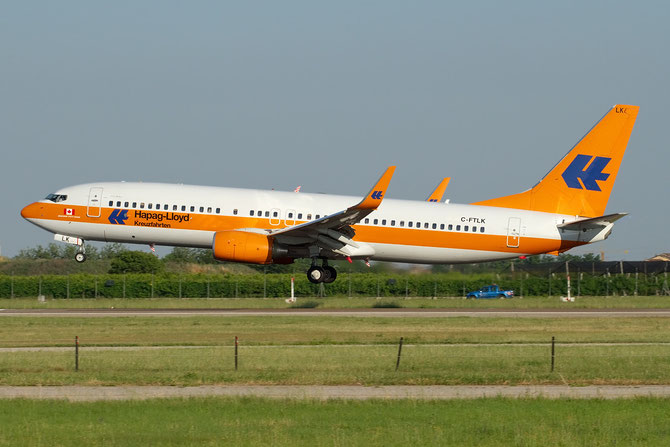 C-FTLK B737-8K5 35143/2763 Sunwing Airlines  Hapag Lloyd Kreuzfahrten special c/s
